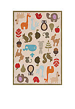 Lil Mo Critter Beige Area Rug 6' x 4'