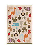 Lil Mo Critter Beige Area Rug 10' x 8'