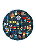 Lil Mo Robots Area Rug 5' x 5'