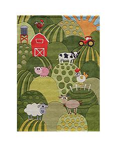 Momeni LIL MO BARNYARD RUG 2X3 GRASS