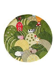 Momeni LIL MO BARNYARD RUG 5X5 GRASS