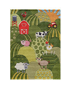 Momeni LIL MO BARNYARD RUG 8X10 GRASS