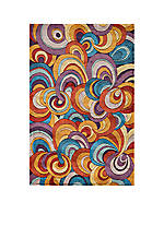 New Wave Rings Multi Area Rug 2' x 3'