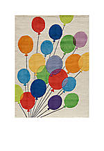 Lil Mo Balloons Beige Area Rug 10' x 8'