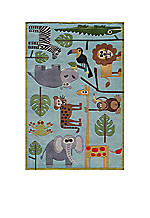 Lil Mo Jungle Area Rug 5' x 7'