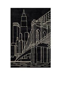 Momeni LIL MO HIPSTER NYC BLACK RUG 2X3 BLACK