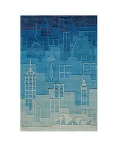 Momeni LIL MO HIPSTER JETSETTER RUG 2X3 BLUE