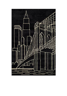 Momeni LIL MO HIPSTER NYC BLACK RUG 3X5