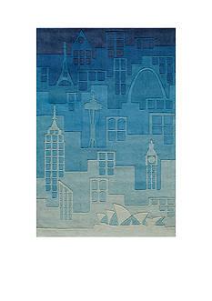 Momeni LIL MO HIPSTER JETSETTER RUG 4X6 BLUE
