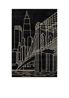 Momeni LIL MO HIPSTER NYC BLACK RUG 5X5 BLACK