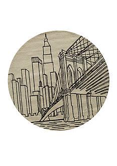 Momeni LIL MO HIPSTER NYC IVORY RUG 5X5 IVORY
