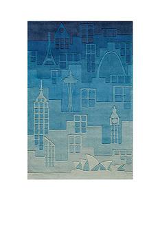 Momeni LIL MO HIPSTER JETSETTER RUG 5X7 BLUE