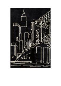 Momeni LIL MO HIPSTER NYC BLACK RUG 8X10 BLACK