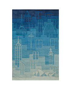 Momeni LIL MO HIPSTER JETSETTER RUG 8X10 BLUE