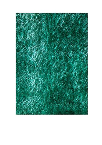Momeni Luster Shag Solid Teal Area Rug 3 X 5 Belk