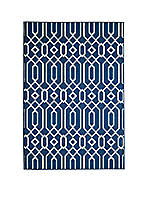 "Baja Crown Navy Area Rug 2'3"" x 7'6"""