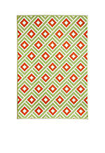 "Baja Square Green Area Rug 2'3"" x 7'6"""