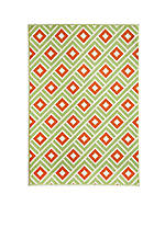 "Baja Square Green Area Rug 1'8"" x 3'7"""