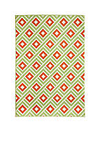 "Baja Square Green Area Rug 2'3"" x 4'6"""
