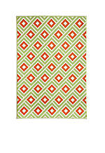 "Baja Square Green Area Rug 3'11"" x 5'7"""