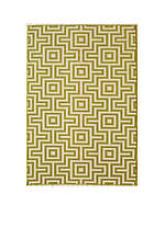 "Baja Green Squares Area Rug 1'8"" x 3'7"""