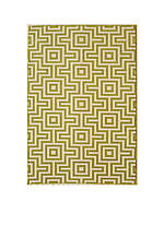 "Baja Green Squares Area Rug 2'3"" x 4'6"""
