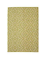 "Baja Green Squares Area Rug 2'3"" x 7'6"""
