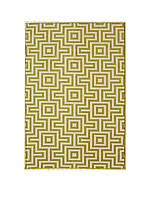 "Baja Green Squares Area Rug 3'11"" x 5'7"""