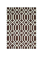 "Geo Lattice Brown Area Rug 3'6"" x 5'6"""