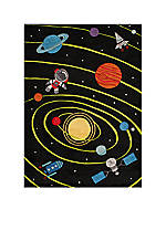 Lil Mo Outer Space Area Rug 2' X 3'