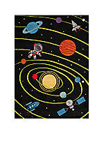 Lil Mo Outer Space Area Rug 4' X 6'