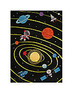 Lil Mo Outer Space Area Rug  5' x 7'
