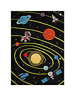 Lil Mo Outer Space Area Rug 8' X 10'