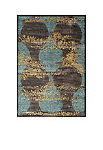 "Vogue Silhouette Blue Rug 1' 8"" x 2' 7"""