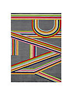Lil Mo Hipster Bright Stripe Area Rug 3 x 2'