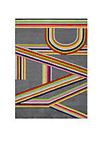 Lil Mo Hipster Bright Stripe Area Rug 5 x 3