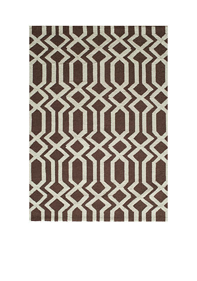 Momeni Geo Lattice Brown Area Rug