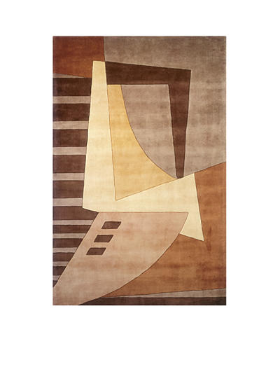 Momeni New Wave Expression Light Brown Area Rug