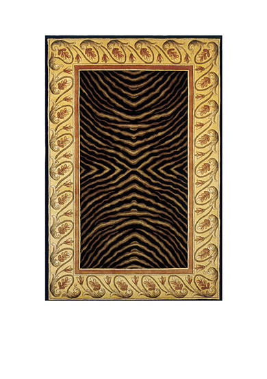 Momeni New Wave Tiger Black Area Rug