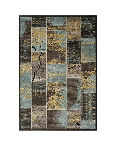 Momeni Veranda Blocks Blue Area Rug