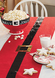 Mud Pie Santa Belt Table Runner