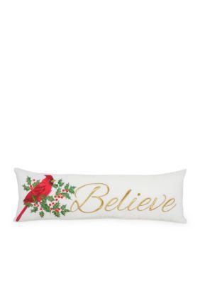 Arlee Decorative Body Pillow : Arlee Home Fashions Inc. Believe Decorative Pillow Belk