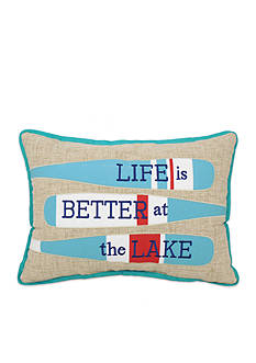 Arlee Home Fashions Inc.™ Life Is Better At The Lake Decorative Pillow