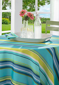 Arlee Home Fashions Inc.™ Hayden Stripe Tablecloth 70-in. Round