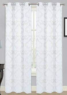 Dainty Home Luxembourg Grommet Curtain Panel Pair