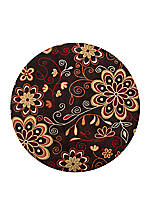 Athena Chocolate Area Rug 4' Round