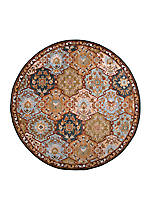 Caesar Charcoal Area Rug 4' Round