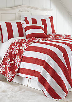 Elise & James Home™ Christmas Cabana Stripe Reversible Quilt
