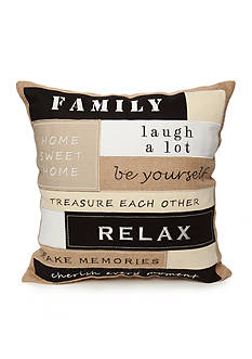 Elise & James Home™ Family Burlap Decorative Pillow