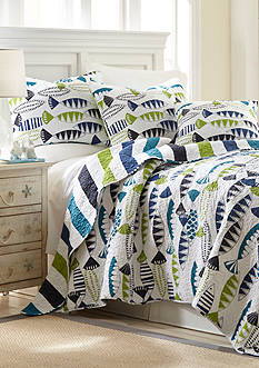 Elise & James Home™ Fish Pond Reversible Quilt Collection